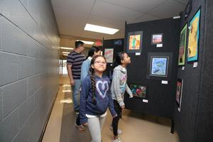 Students at the MISD Art Show
