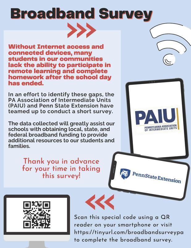 PAIU Broadband Survey Flyer