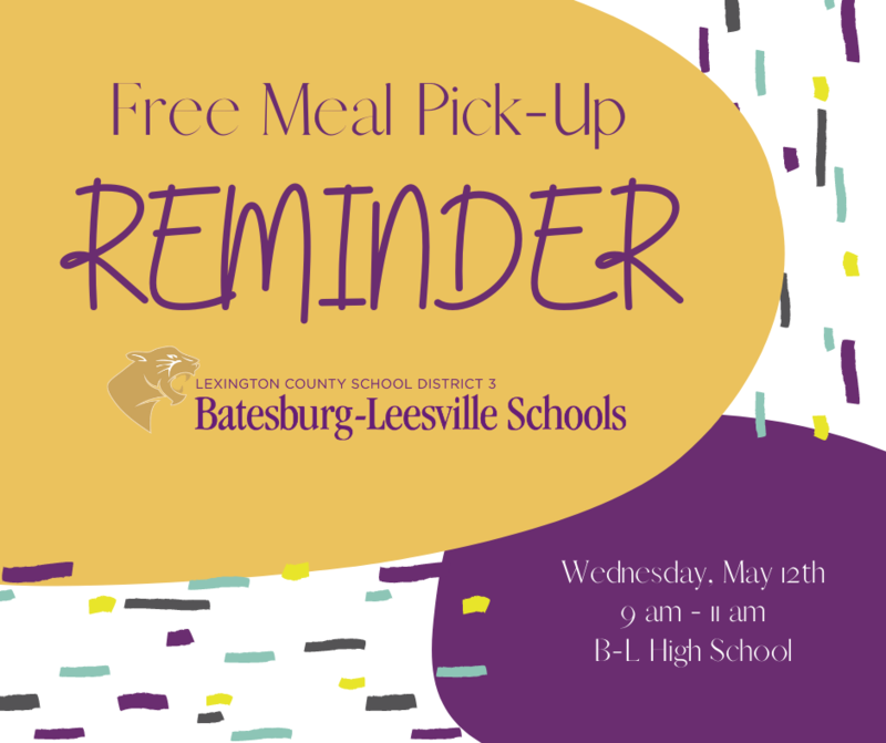 Free Meal Pick-Up Event Scheduled for May 12th