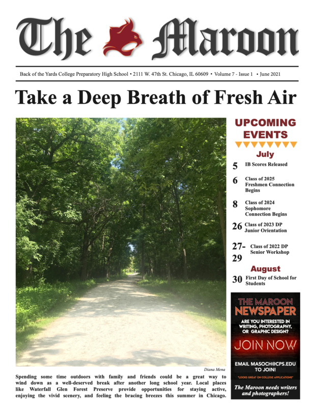 Hot off the virtual press!  Volume 7, Issue 1 of The Maroon is here! Featured Photo