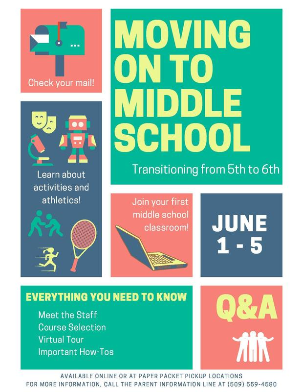 moving on to middle school information