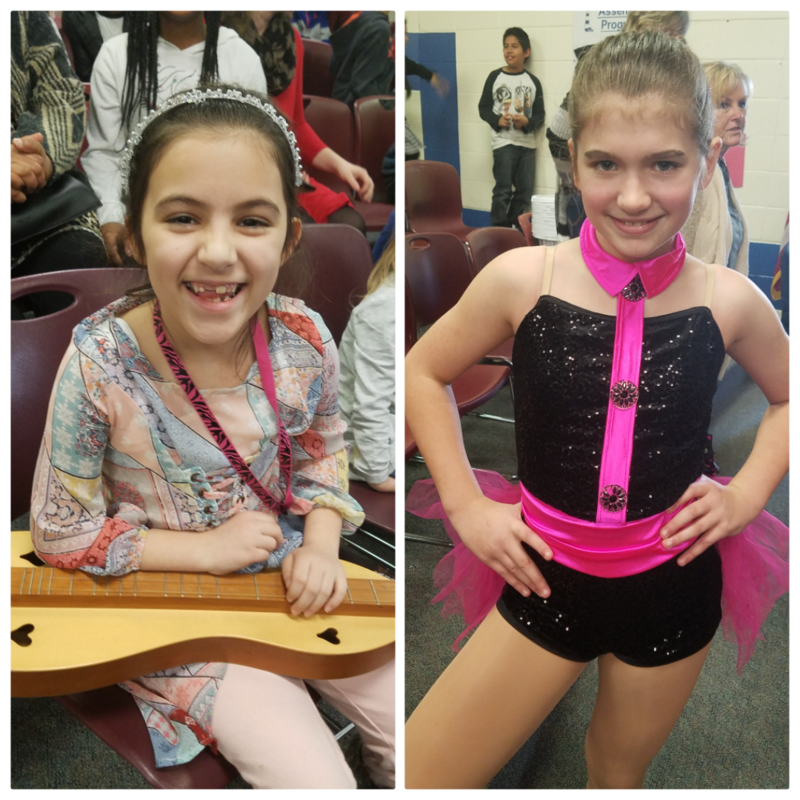 1st and 2nd place winners for EGMS 2019 Talent Show