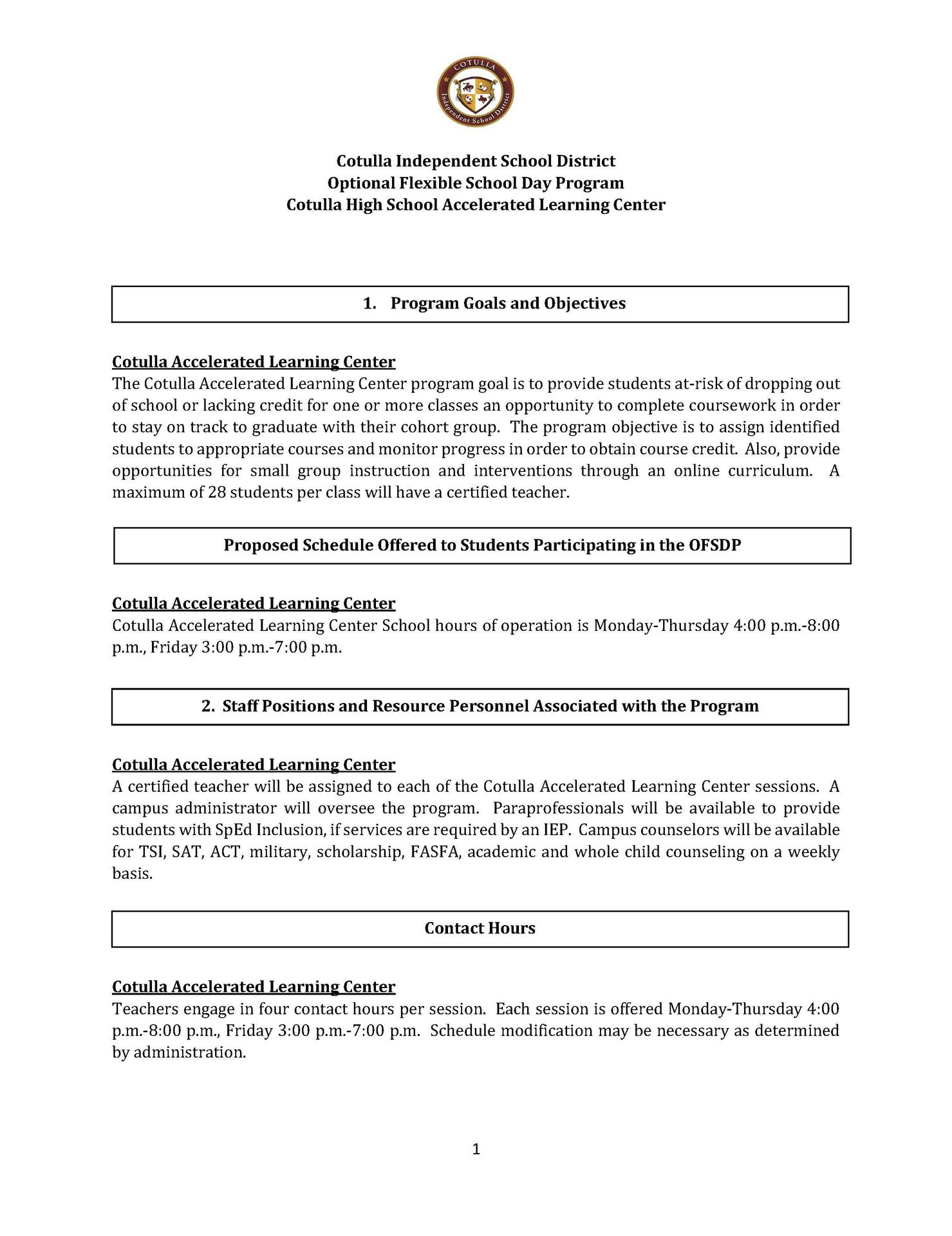 ofsdp page 1