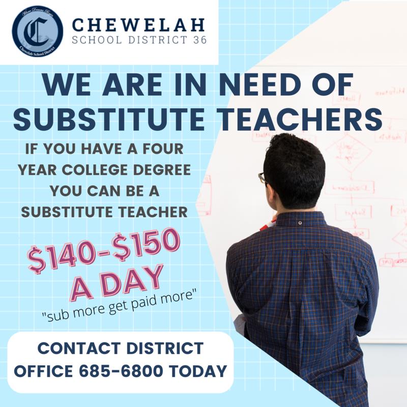 Need Substitute Teachers