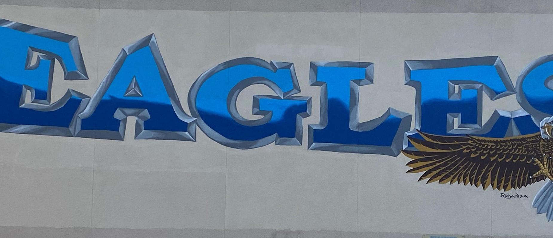 Eagle mural