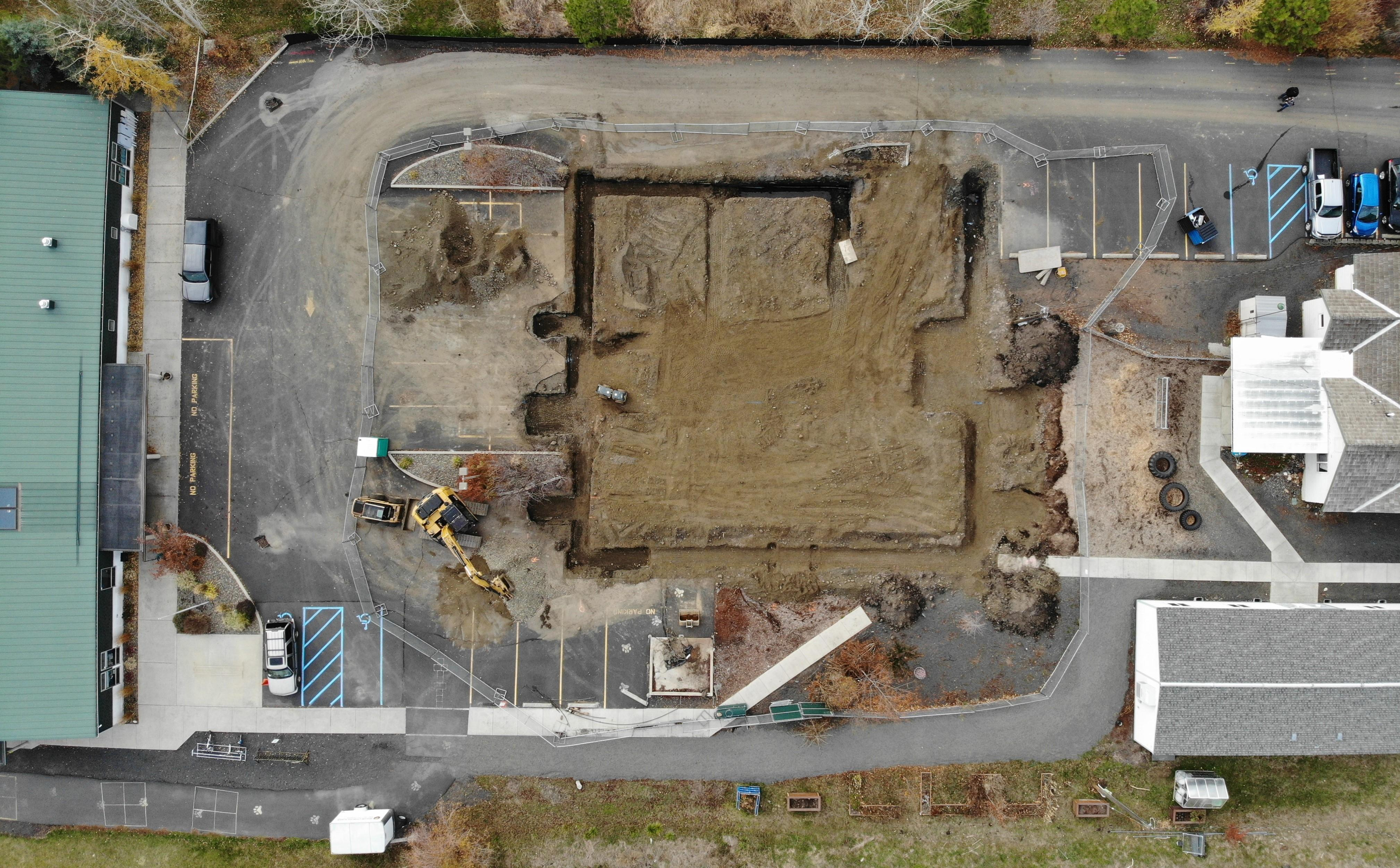 Drone image of expansion site
