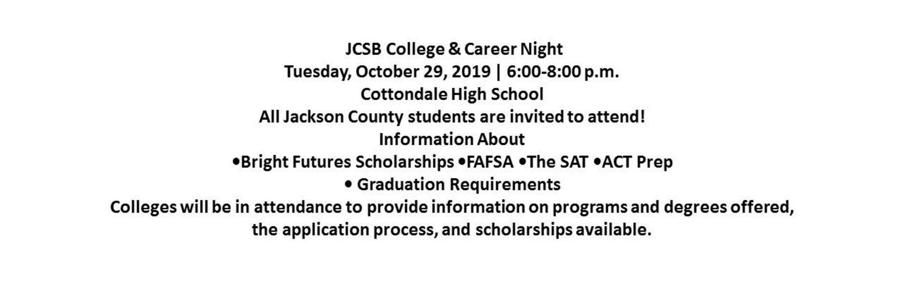 College Night Announcement