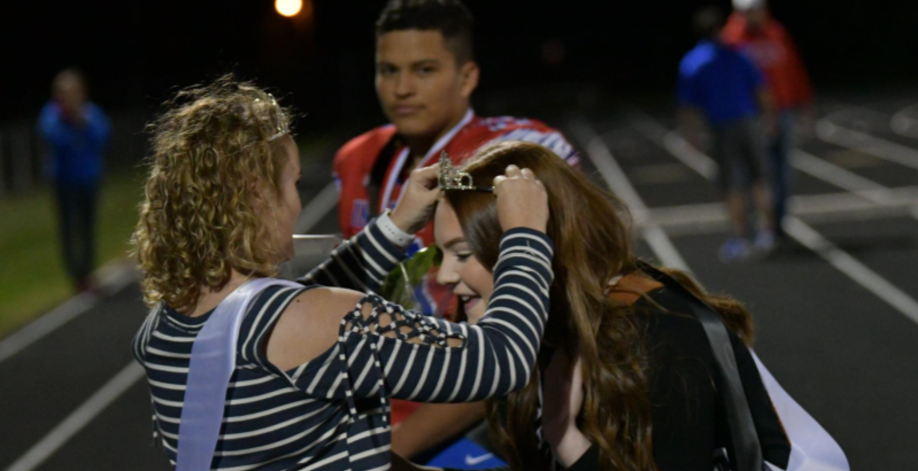 Crowning Homecoming Queen