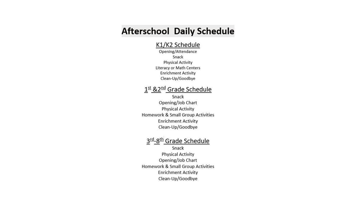 y schedule