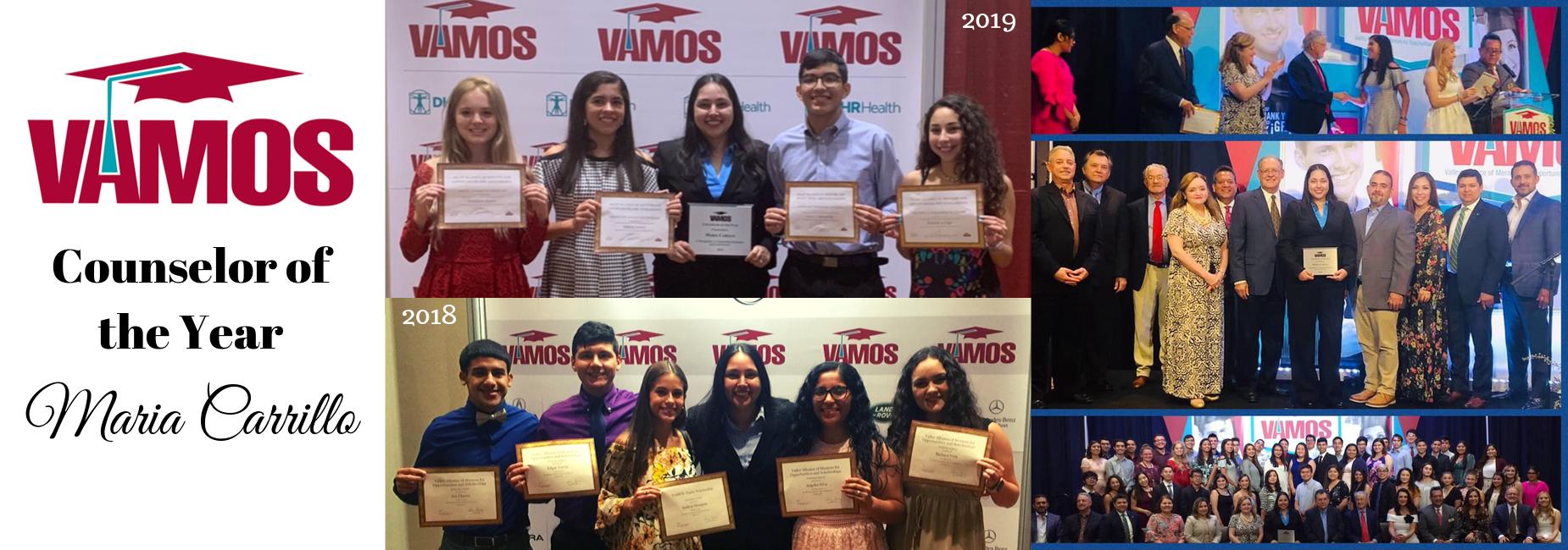 students receiving VAMOS scholarship awards