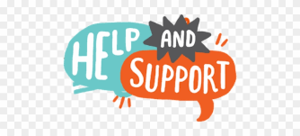 help and support logo