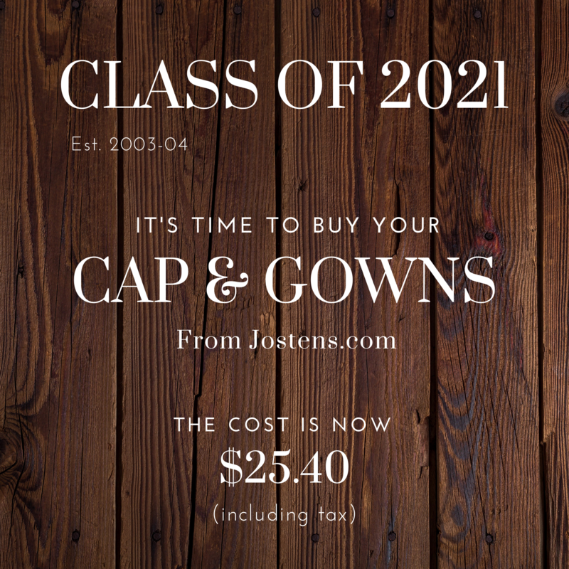 Seniors: Purchase Your Cap and Gowns ASAP Thumbnail Image