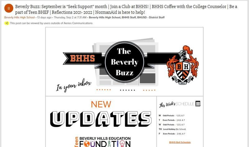 BHHS Newsletter - The Beverly Buzz - September 15, 2021