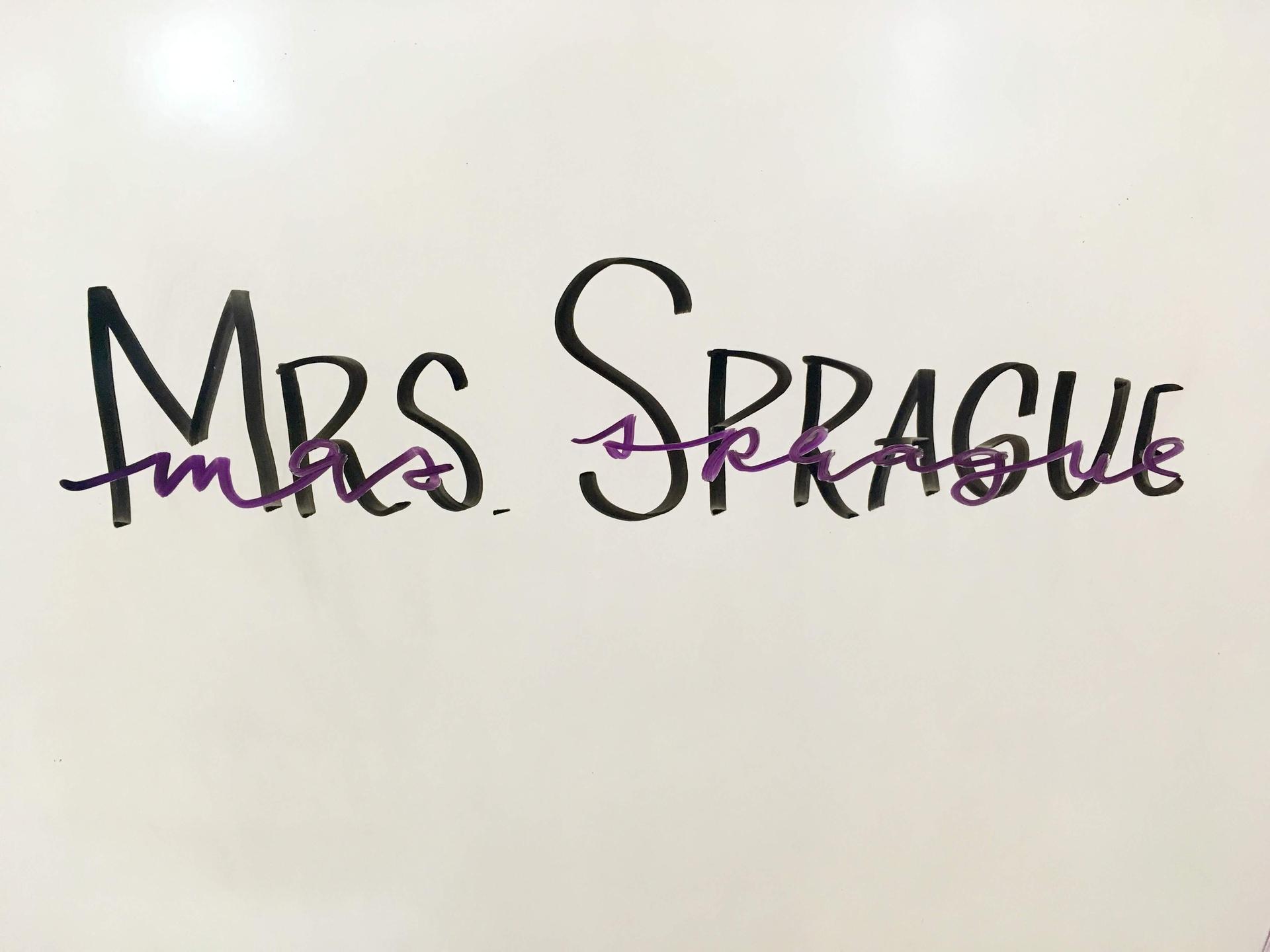 Mrs. Sprague