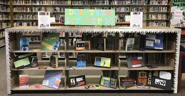 Top 10 Teen Lit Display