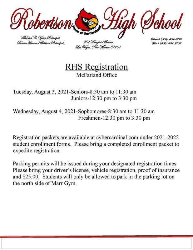 RHS Registration