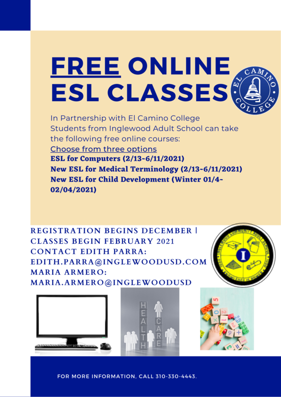 ECC-Free ESL courses 2021