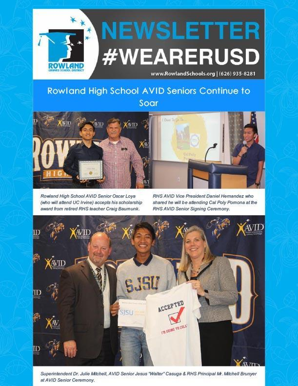 RUSD News! RHS AVID Ceremony, NHS Sr. Seminar & More! Thumbnail Image