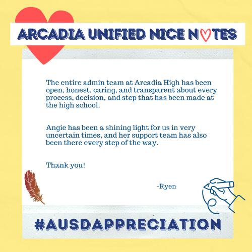 Arcadia High Admin Team from Ryen