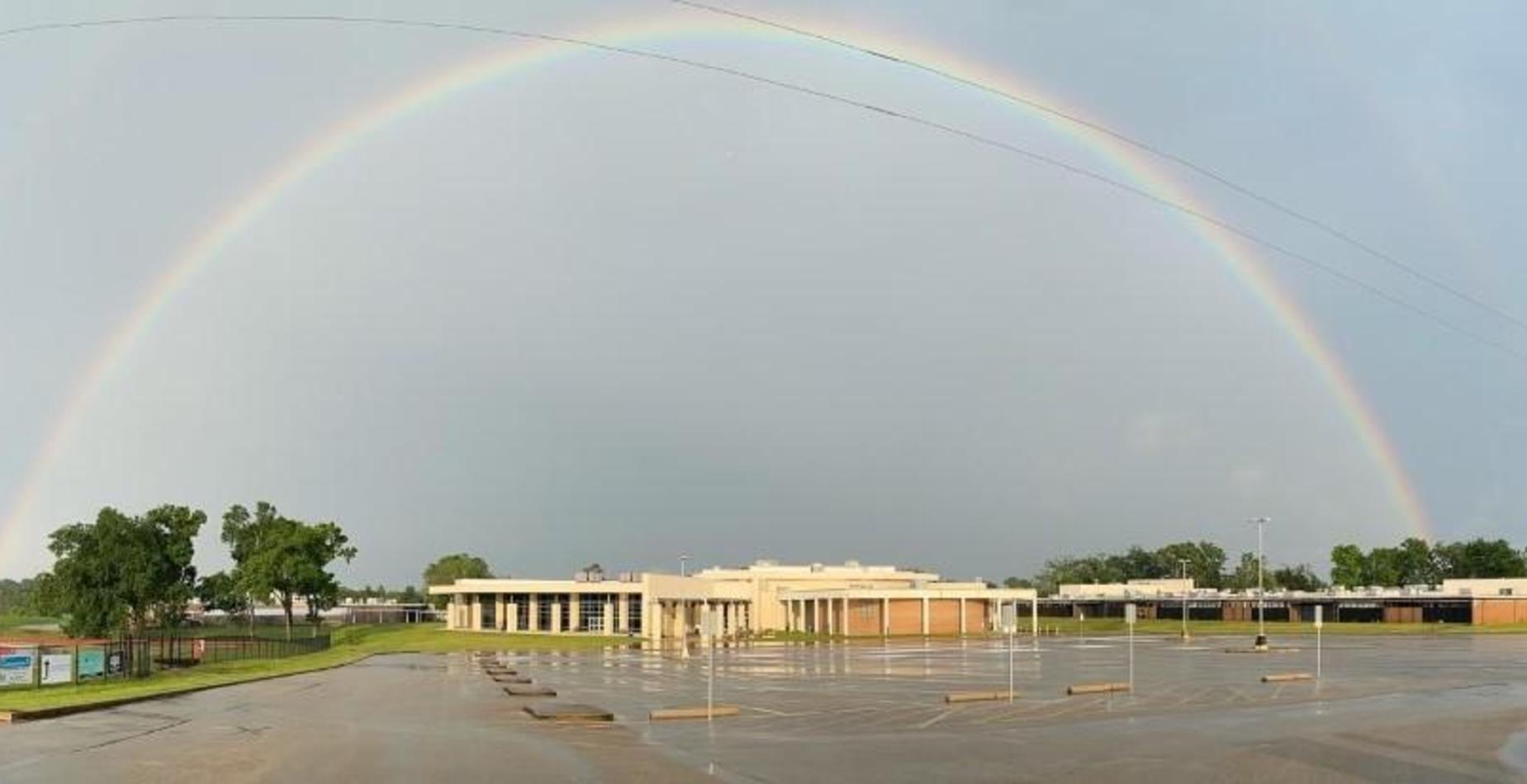 rainbow over jhs