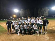 Female Sports Team for liberty high school on the baseball field