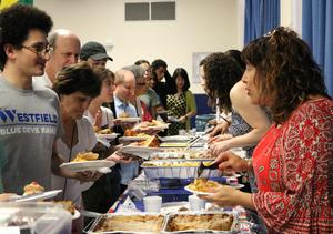 Photo of a buffet of food from around the world at the celebration of cultural diversity at WHS on May 2.