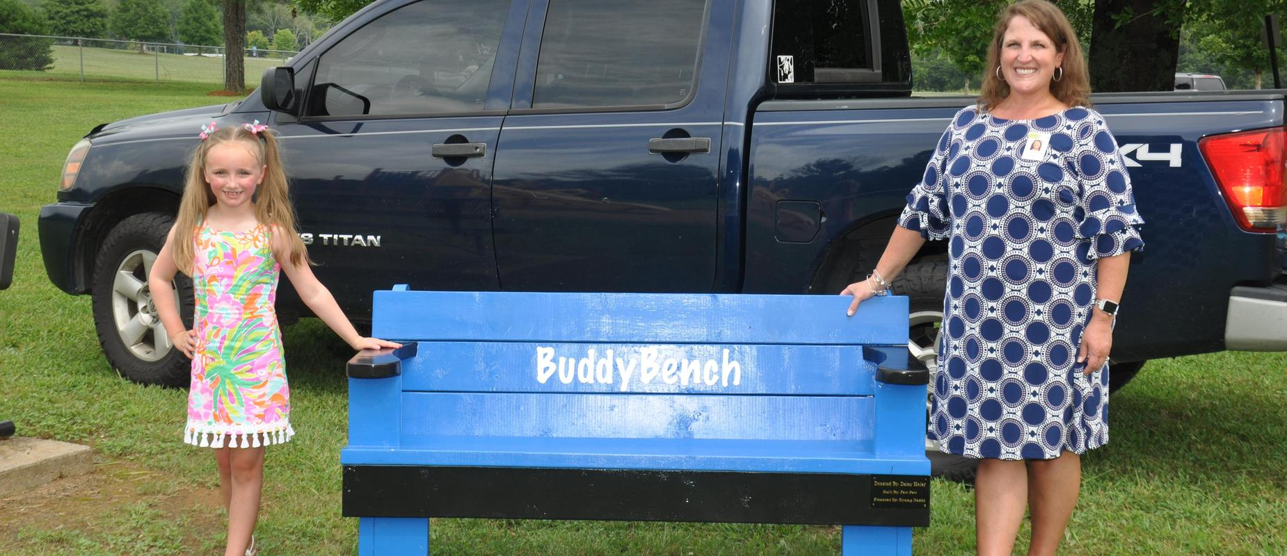 Daisy Donates Buddy Benches to WES