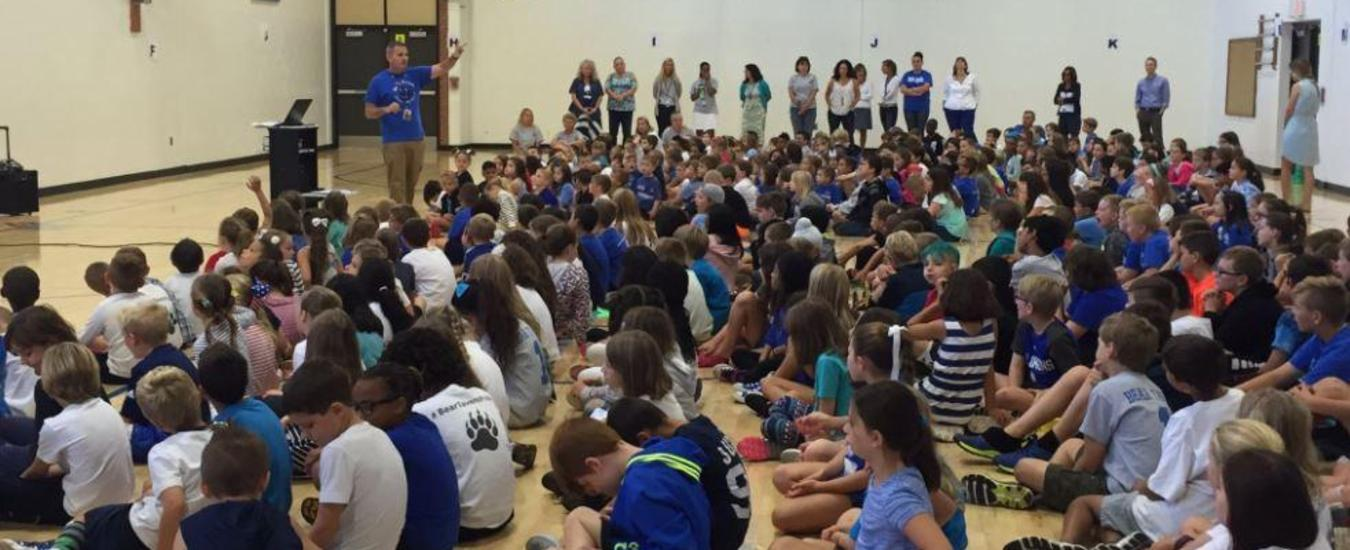 Bear Tavern Elementary School whole school assembly
