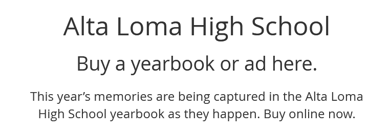 ALHS Yearbook Purchase