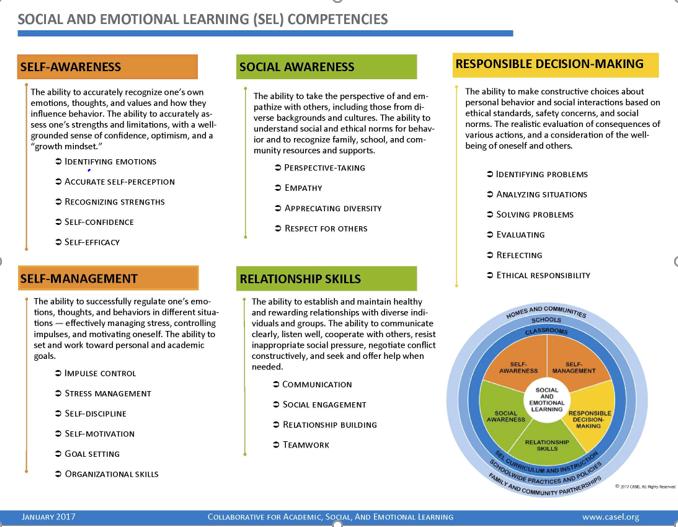 CASEL social emotional competencies