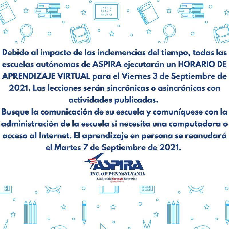 INFORMACIÓN IMPORTANTE SOBRE EL CIERRE DE LA ESCUELA Featured Photo
