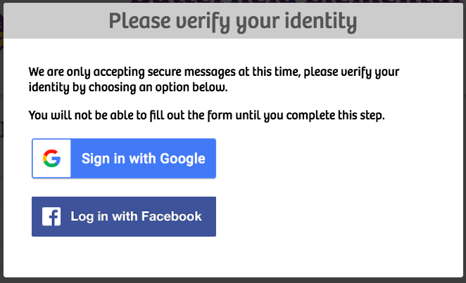 Google and Facebook Authentication
