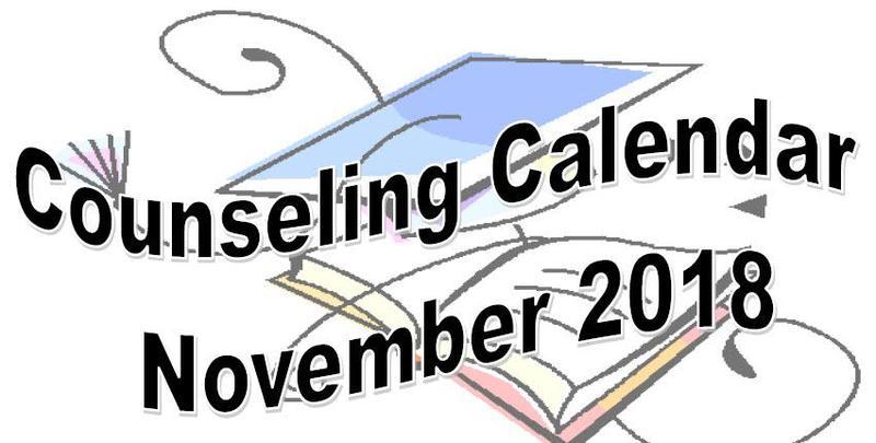 Counseling Calendar November 2018 Thumbnail Image