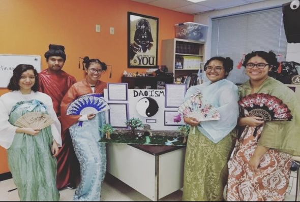 Students in costume