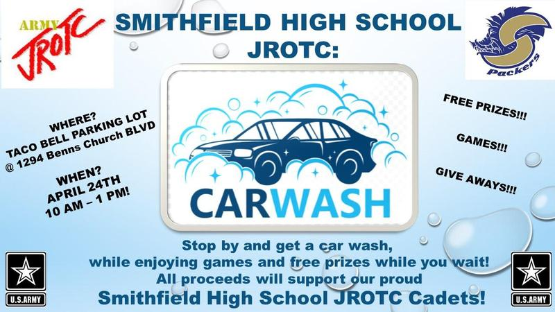 JROTC car wash on April 24