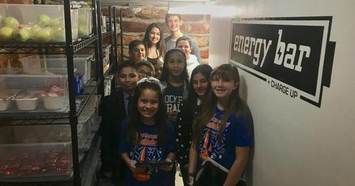 Rayburn student visit pantry
