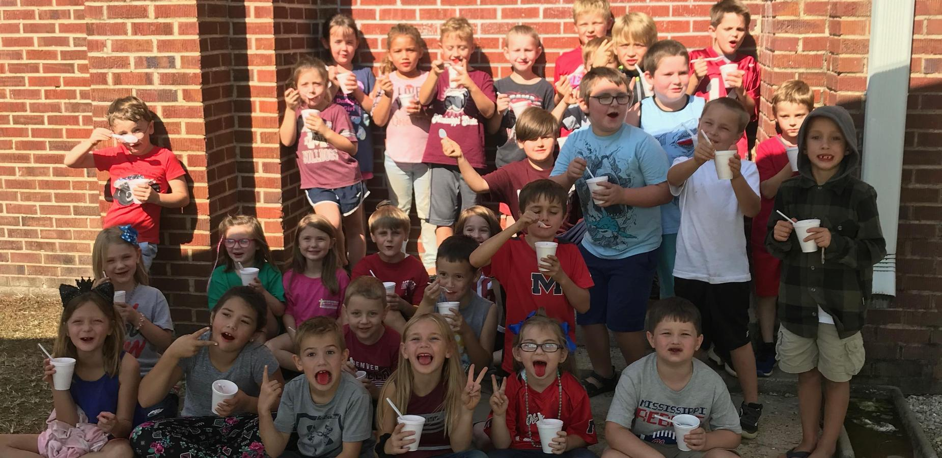 1st Grade Enjoys Snow Cones