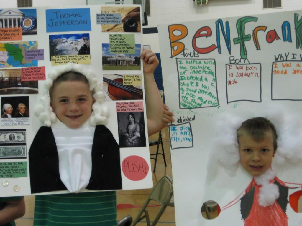 Wax Museum-Thomas Jefferson and Ben Franklin