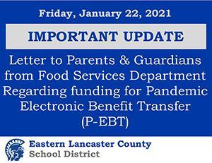 Important Update from Food Services Banner