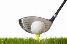 Clip art of golf ball on peg