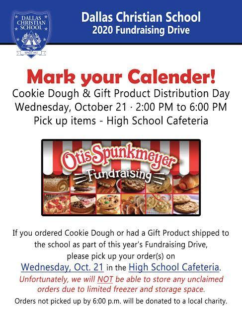 Cookie Dough and Gift Distribution Day is October 21 Featured Photo