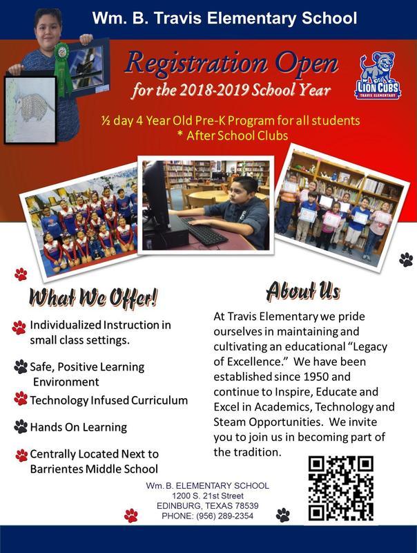 Registration Open for 2018-2019