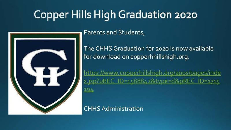 CHHS Graduation 2020 Download
