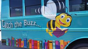 The B. Bus will be traveling throughout the county this summer bringing books to neighborhoods.