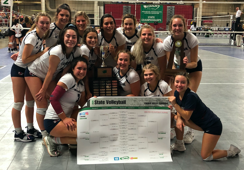 Mt. Spokane 2018 3A State Volleyball Champions
