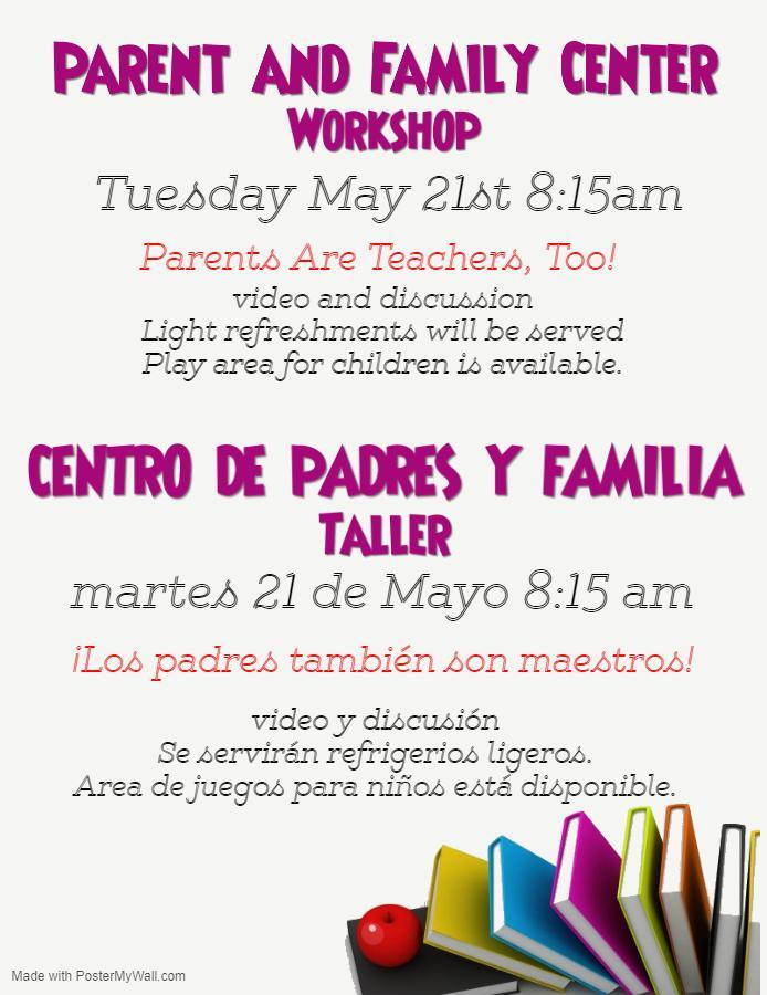 Please join us for our next workshop!