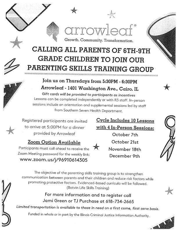 Calling All Parents of 6th-9th Grade Children to Join Arrowleaf's Parenting Skills Training Group Thumbnail Image