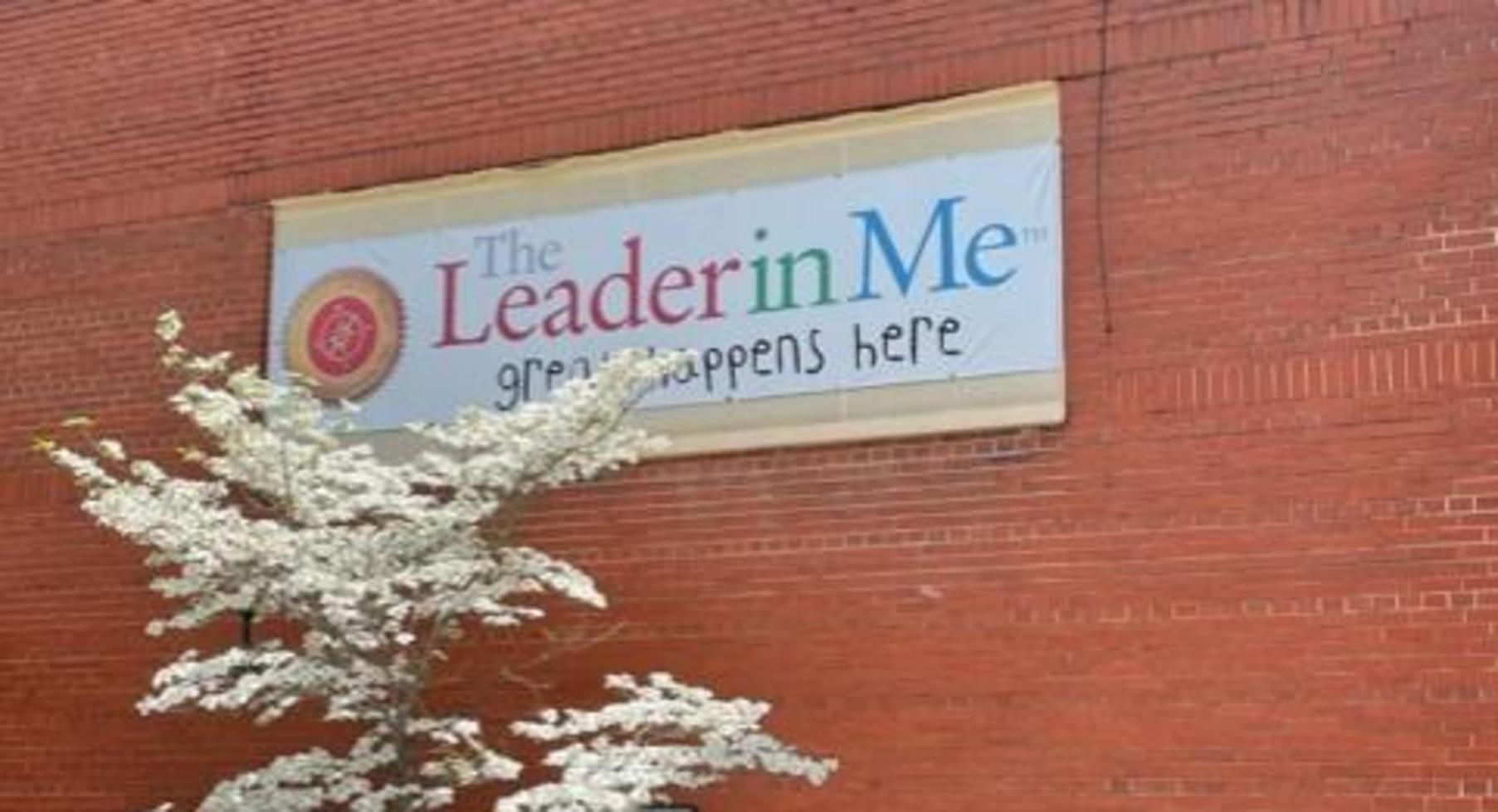Leader in Me sign