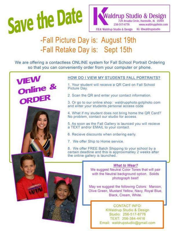 Fall Picture Retakes and Makeup Day, Wednesday, September 15 Featured Photo