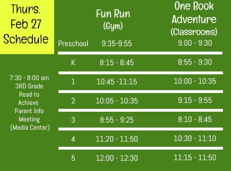 Image of Feb 27 Schedule